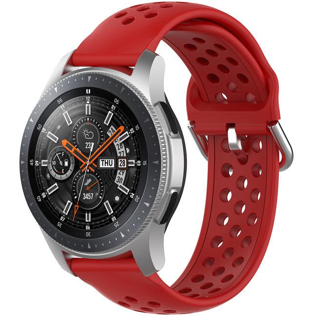 123watches Samsung Galaxy Watch Silikon doppel schnallenband - rot