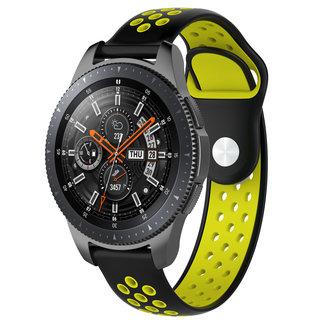 Marke 123watches Samsung Galaxy Watch Silikon Doppelband - schwarz Gelb