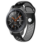 123Watches Samsung Galaxy Watch Silikon Doppelband - schwarz grau