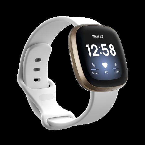 123Watches Fitbit Versa 3 / Sense Sportband - Weiß