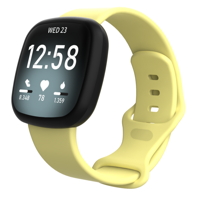 Fitbit Versa 3 / Sense Sportband - Gelb