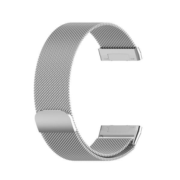 123Watches Fitbit Versa 3 / Sense milanese band - Silber