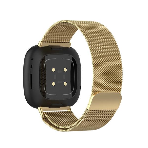 123Watches Fitbit Versa 3 / Sense milanese band - Gold