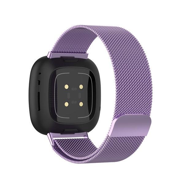 123Watches Fitbit Versa 3 / Sense milanese band - lavendel