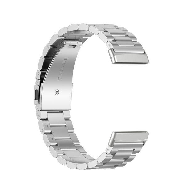 123Watches Fitbit Versa 3 / Sense Perlen Stahlverbindungsband - Silber