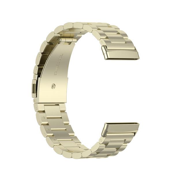123Watches Fitbit Versa 3 / Sense Perlen Stahlverbindungsband - Champagner