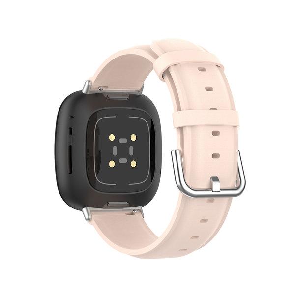 123Watches Fitbit Versa 3 / Sense Lederband - Rosa