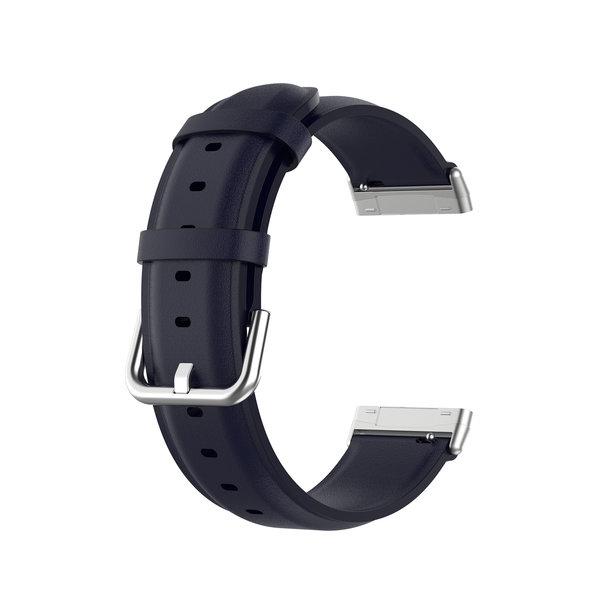 123Watches Fitbit Versa 3 / Sense Lederband - Blau