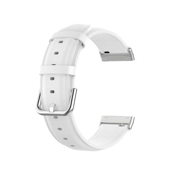 123Watches Fitbit Versa 3 / Sense Lederband - Weiß