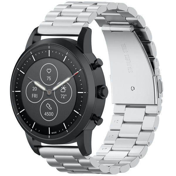 123Watches Huawei watch GT / fit drei Stahlglieder Perlenband - Silber