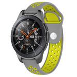 123Watches Huawei watch GT Silikon Doppelband - grau gelb