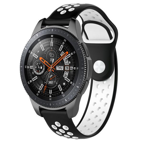123Watches Huawei watch GT Silikon Doppelband - Schwarz Weiß