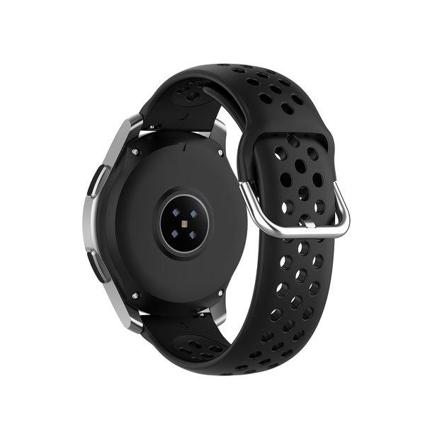 123Watches Huawei watch GT silicone doppel Schnallenriemen - schwarz