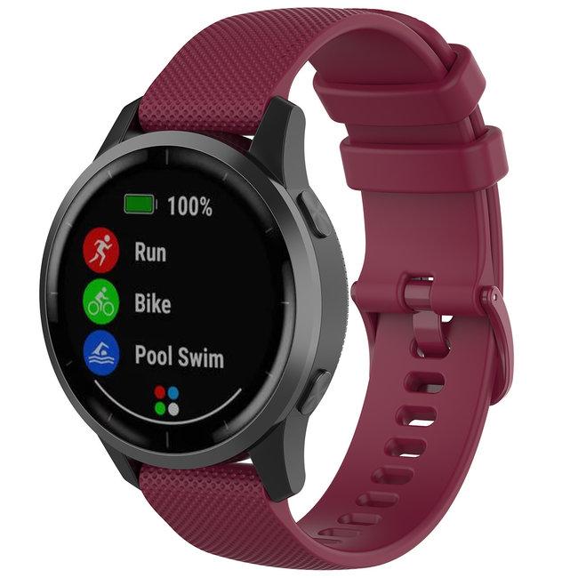 123watches Huawei watch GT Silikon Schnallenband- Weinrot