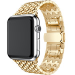 123Watches Apple watch Drache Gliederband - gold