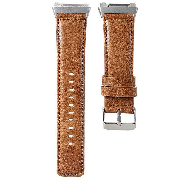 123Watches Fitbit Ionic genuine Lederband - Hellbraun