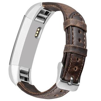 123watches Fitbit Alta genuine Lederband - dunkelbraun