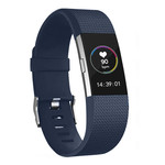 123Watches Fitbit charge 2 Sportband - Mitternacht Blau