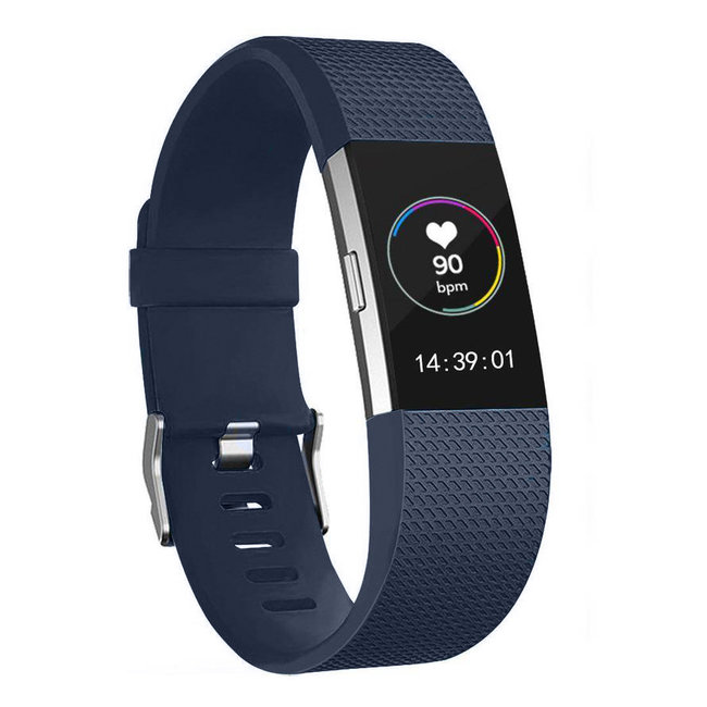 Fitbit charge 2 Sportband - Mitternacht Blau