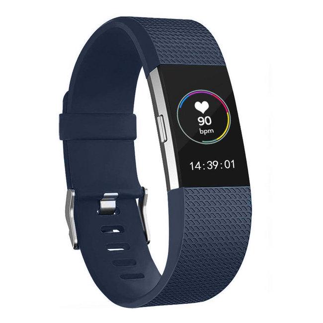 Marke 123watches Fitbit charge 2 Sportband - Mitternacht Blau