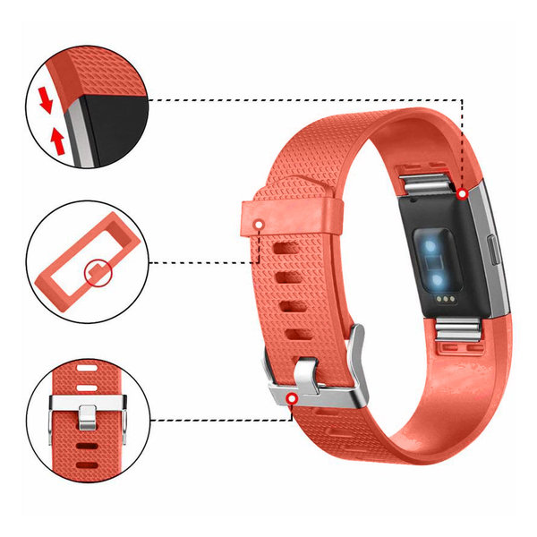 123Watches Fitbit charge 2 Sportband - Orange
