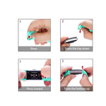 123Watches Fitbit charge 2 Sportband - Grün blau