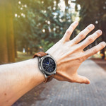 123Watches Samsung Galaxy Watch genuine Lederband - Hellbraun