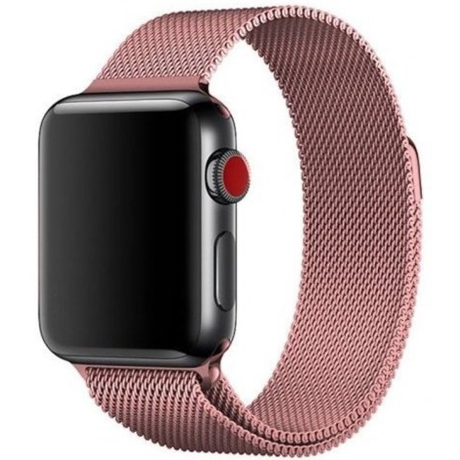 Marke 123watches Apple watch milanese band - rose rot