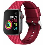 123Watches Apple watch rhombic silicone band - rot