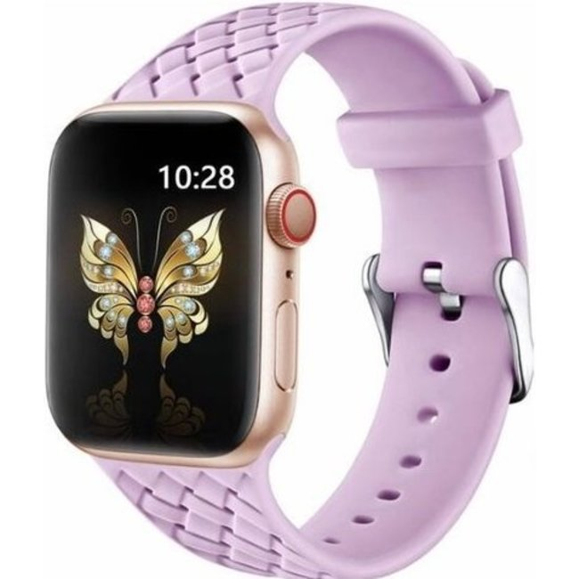 Marke 123watches Apple watch woven silicone band - lavendel