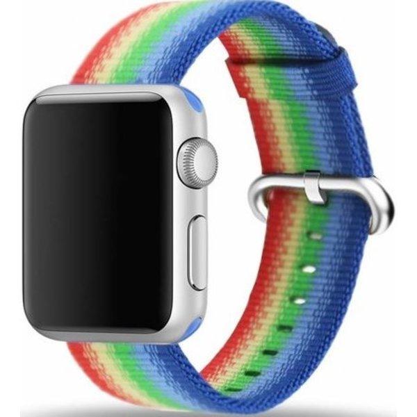 123Watches Apple watch nylonschnallenband - regenbogen