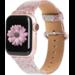 Marke 123watches Apple Watch Leder Glitzer Riemen - pink