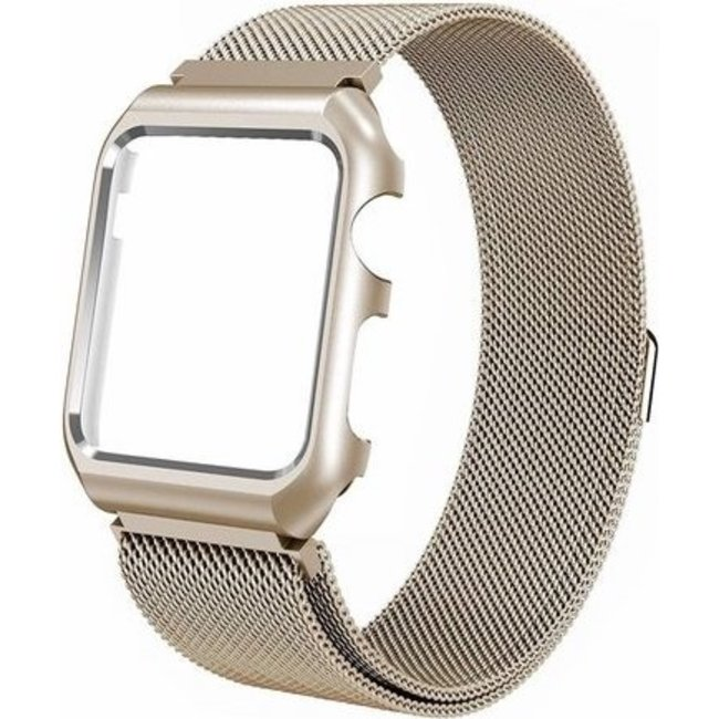 123watches Apple watch milanese case band - retro gold