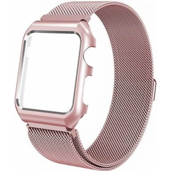 123Watches Apple watch milanese case band - rotgold