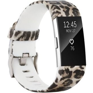 Marke 123watches Fitbit charge 2 print sport band - leopard