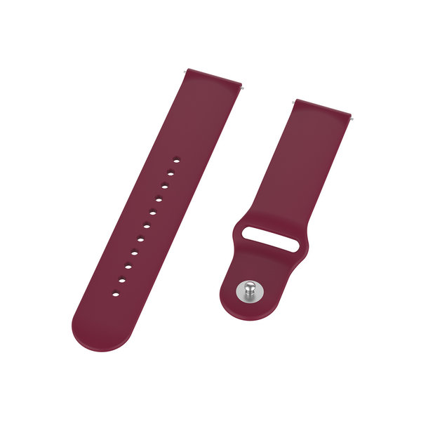 123Watches Polar Ignite Silikonband - Wein rot