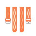 123Watches Polar Ignite silicone Doppelschnallenband - Orange