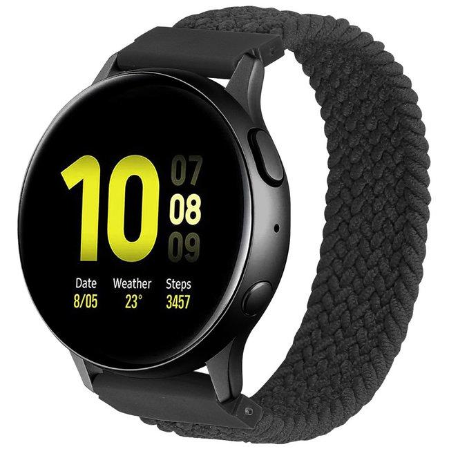 Marke 123watches Samsung Galaxy Watch geflochtene Soloband - Holzkohle
