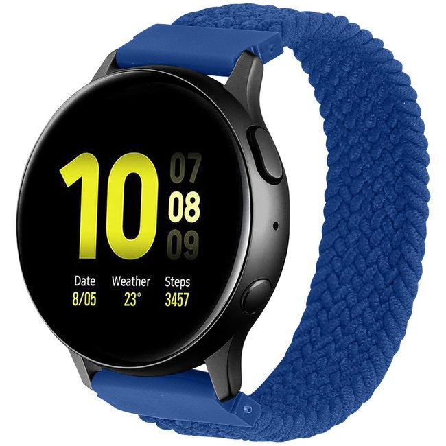 123watches Garmin Vivoactive / Vivomove geflochtene Soloband - atlantisches blau