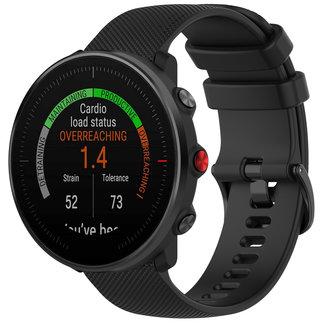 123watches Polar Vantage M / Grit X Silikonschnallenband - schwarz