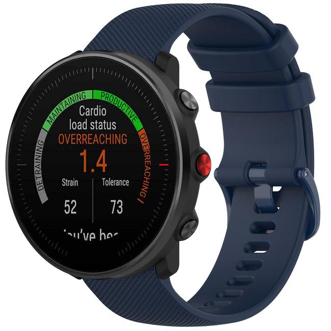123watches Polar Vantage M / Grit X Silikonschnallenband - marineBlau