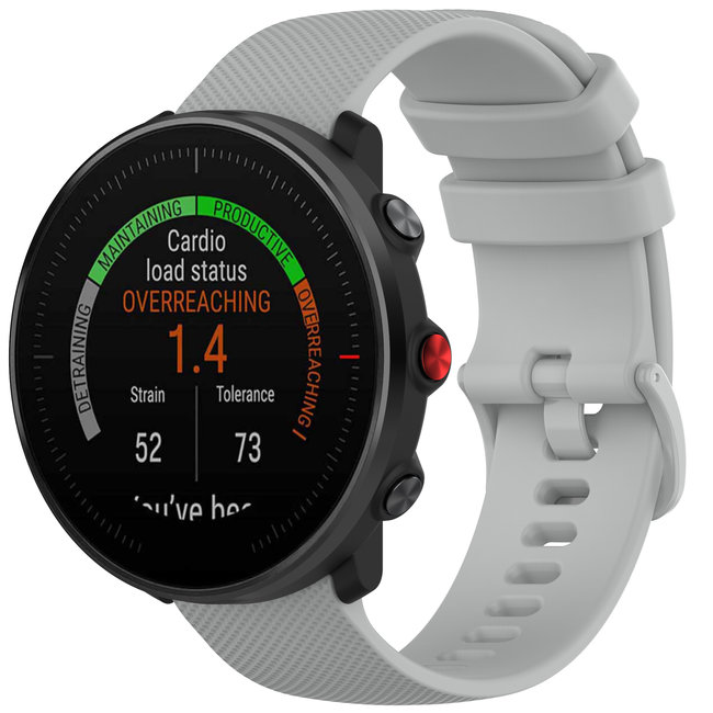 123watches Polar Vantage M / Grit X Silikonschnallenband - grau