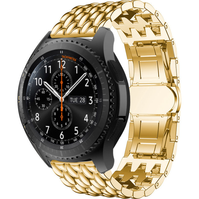Samsung Galaxy Watch Drache Stahlgliederband - Gold