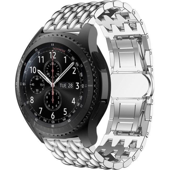 Samsung Galaxy Watch Drache Stahlgliederband - Silber