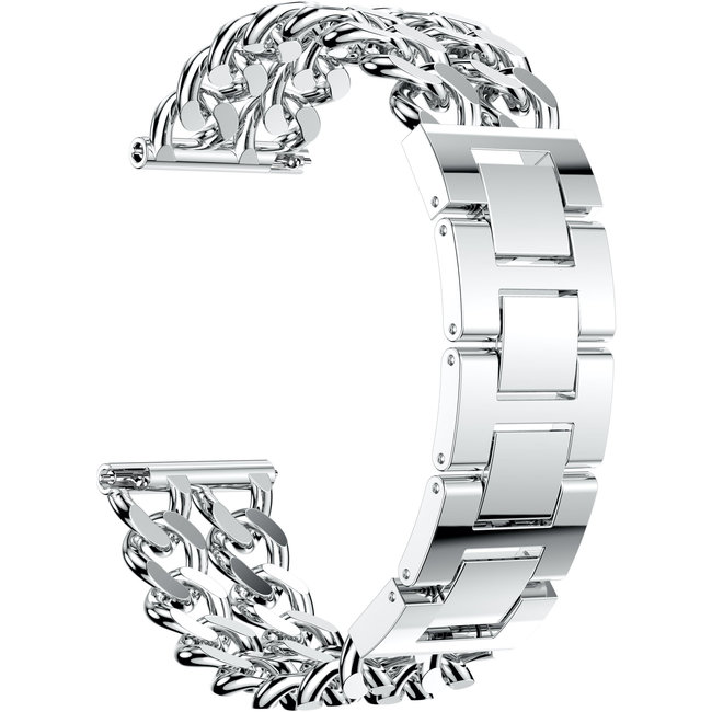 Samsung Galaxy Watch Cowboy-Stahlgliederband - Silber