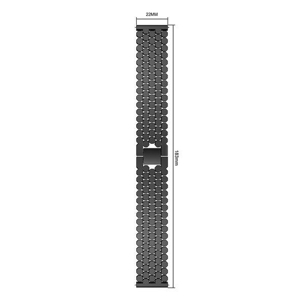 123Watches Garmin Vivoactive Fisch Stahlgliederband - schwarz