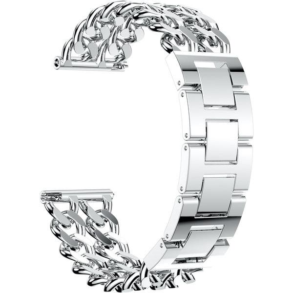 123Watches Garmin Vivoactive Cowboy-Stahlgliederband - Silber