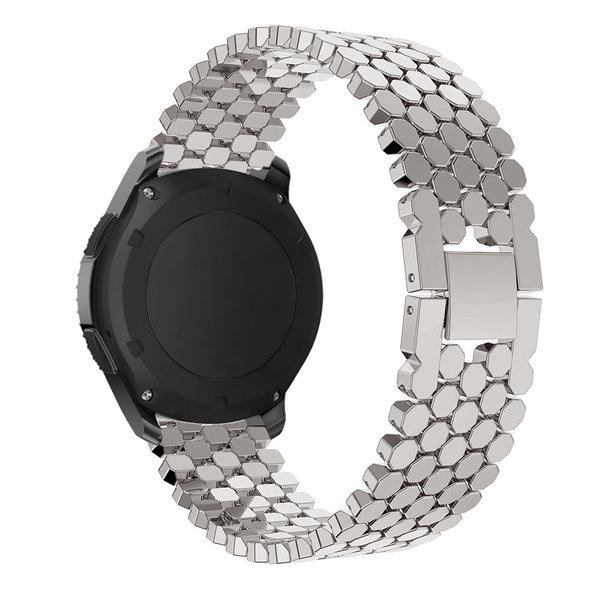 123Watches Huawei GT Fisch Stahlgliederband - Silber