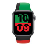 123Watches Apple Watch Sportband Black Unity - rot grün