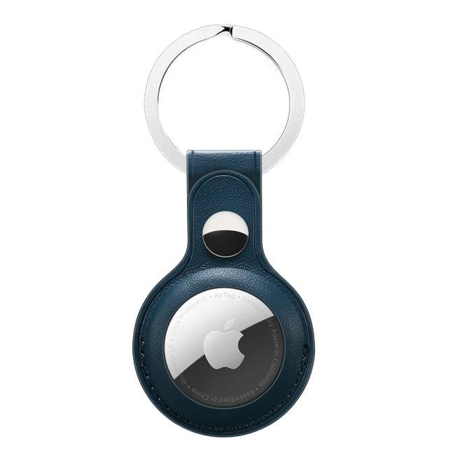 Marke 123watches AirTag PU Leder Schlüsselanhänger - grün